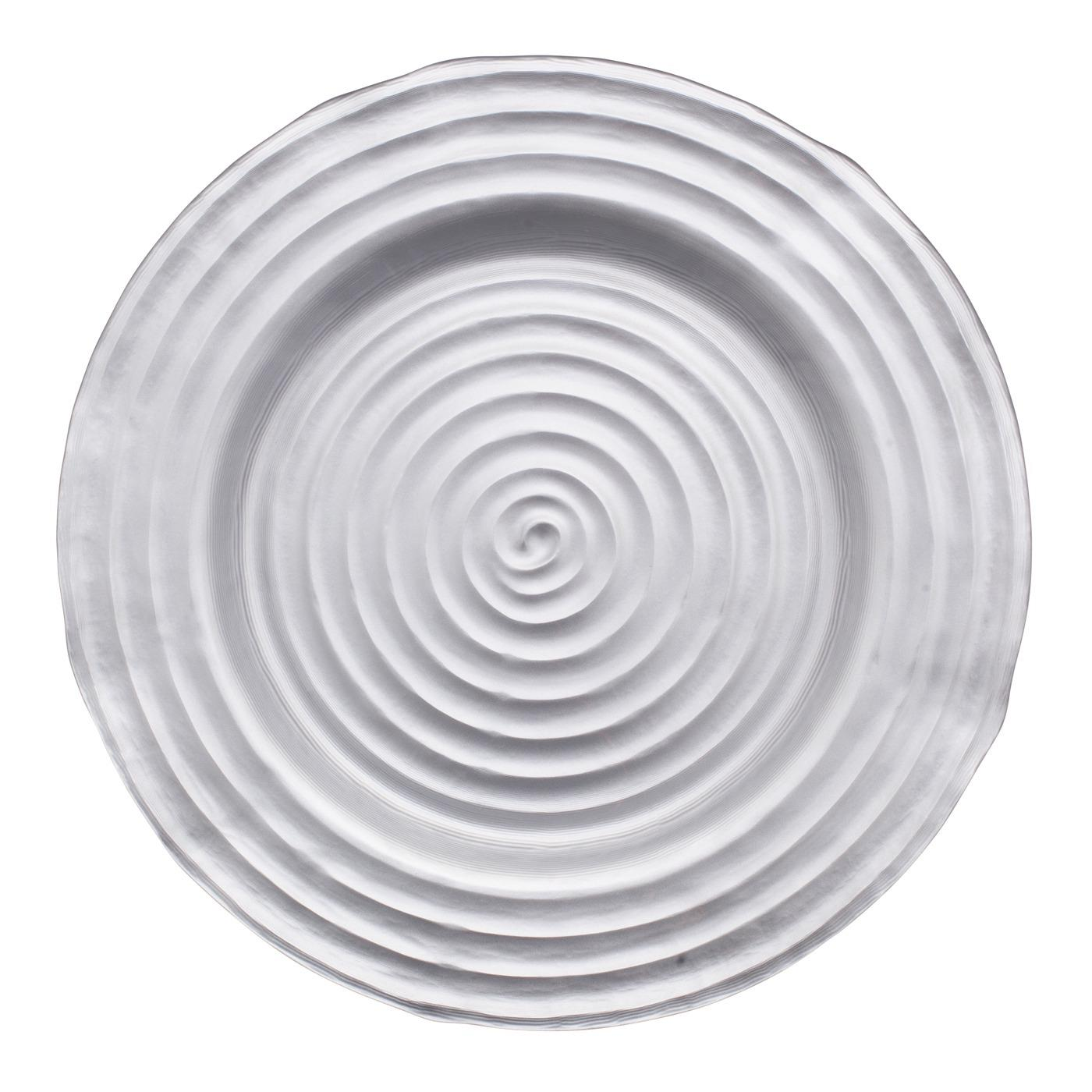 "Swirl Glass Charger 13"" - Silver"