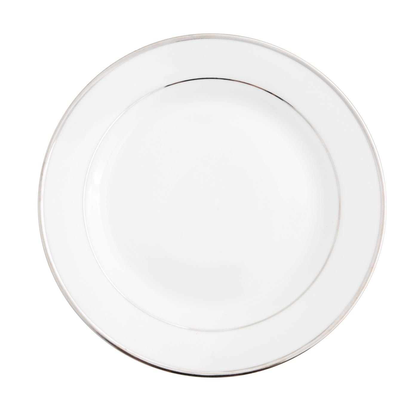 Platinum Band Collection -  Lunch Plate 9""