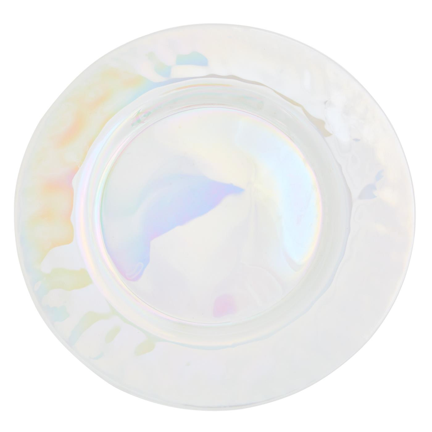 Pearlescent Glass Charger
