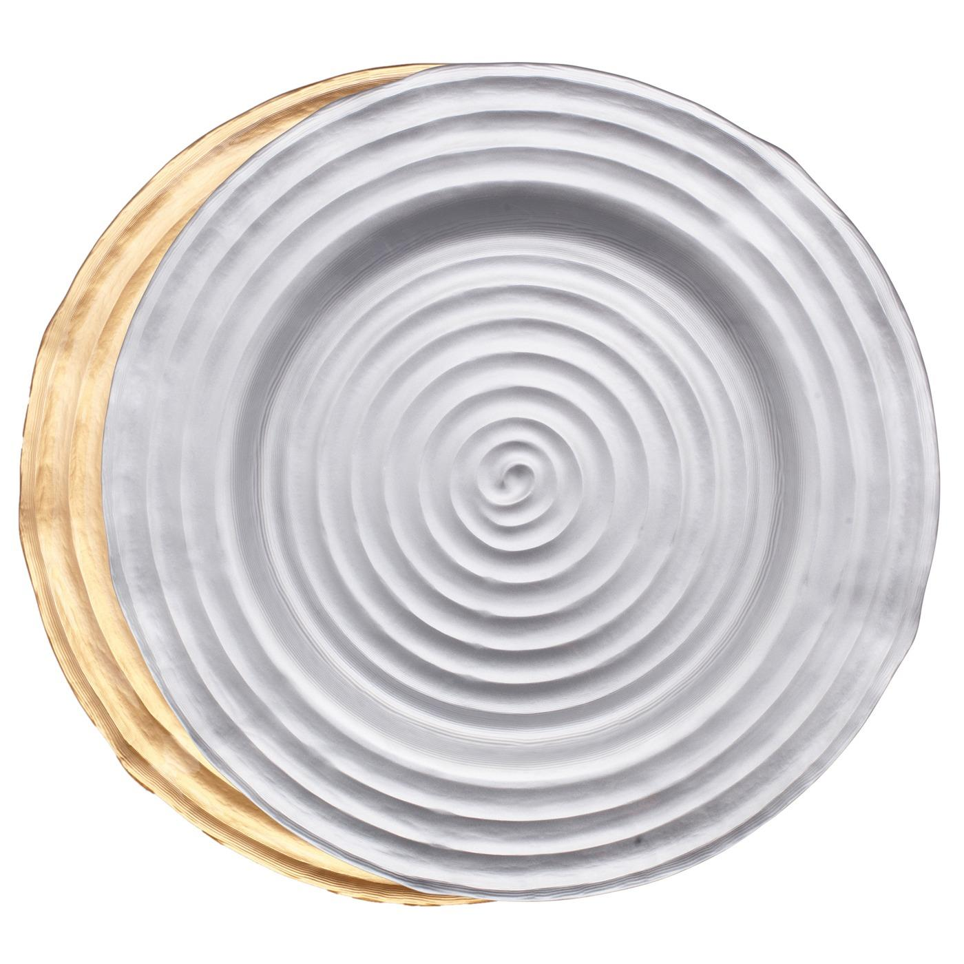 Swirl Glass Charger 13