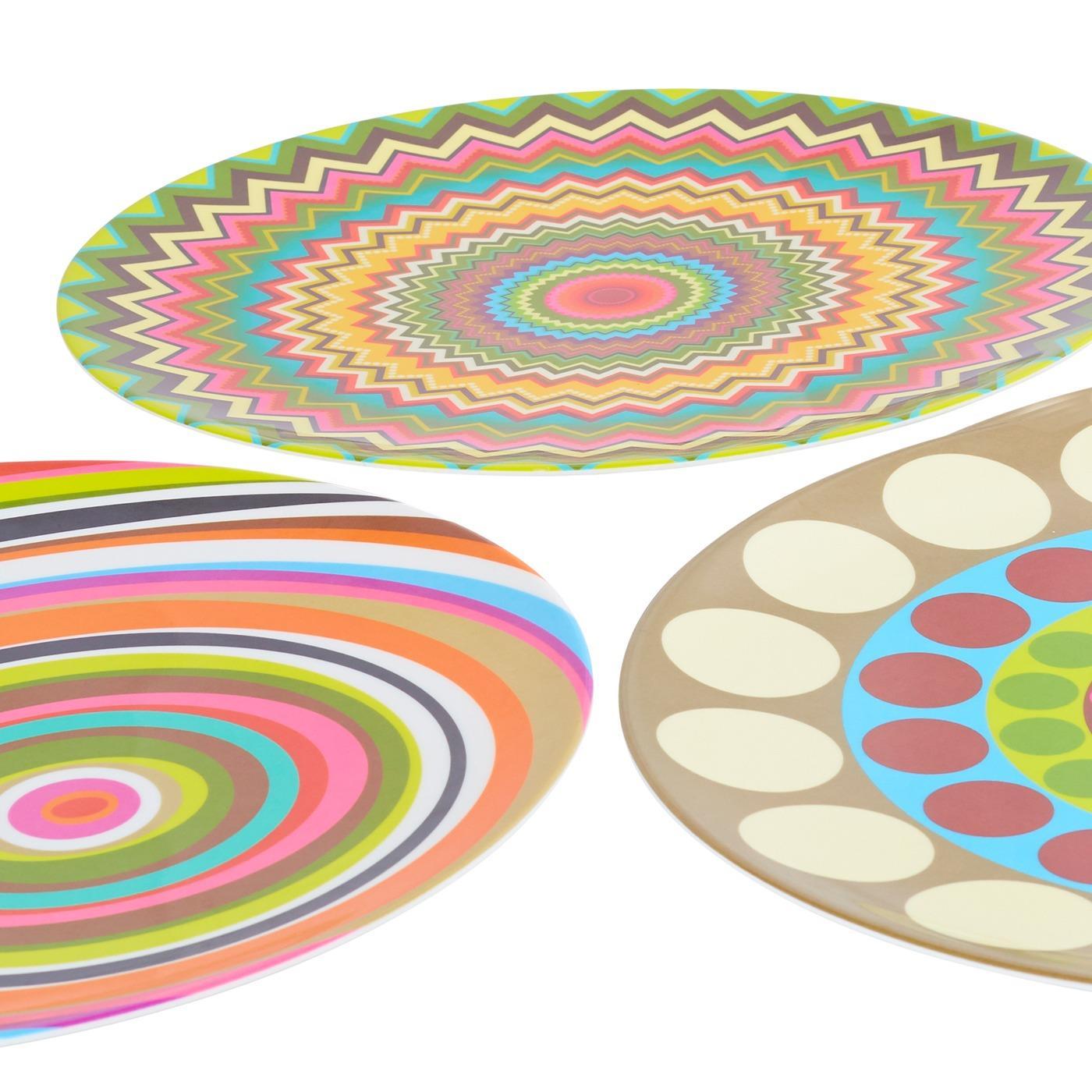 "Melamine Round Platter 15.5"""