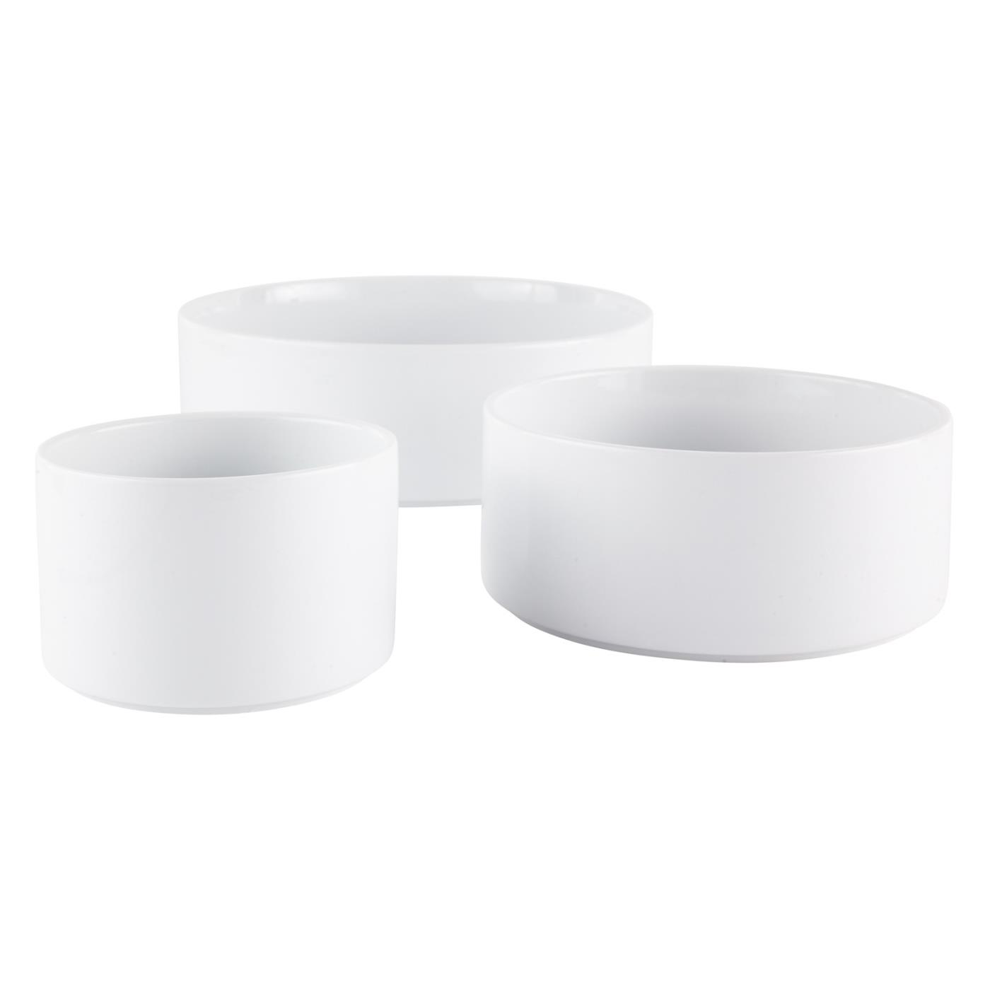 White Ceramic Straight Sided Bowl