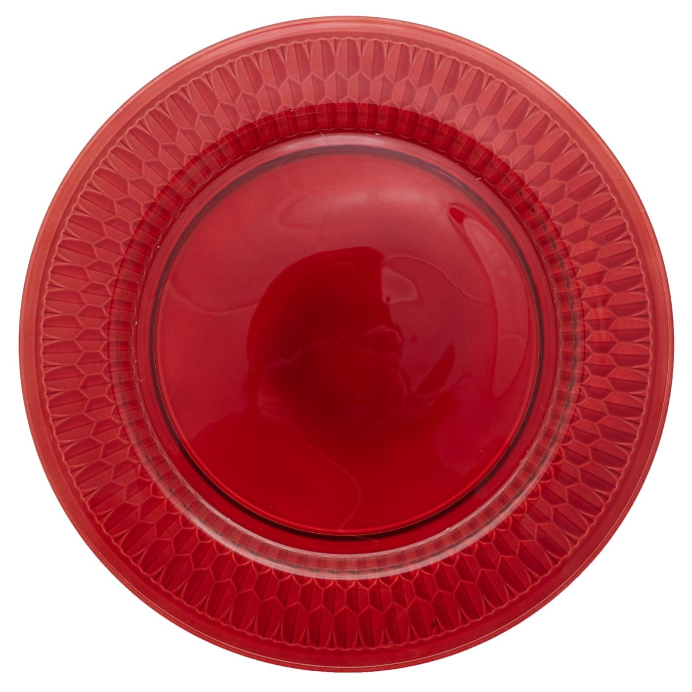 Villeroy Red Glass Charger