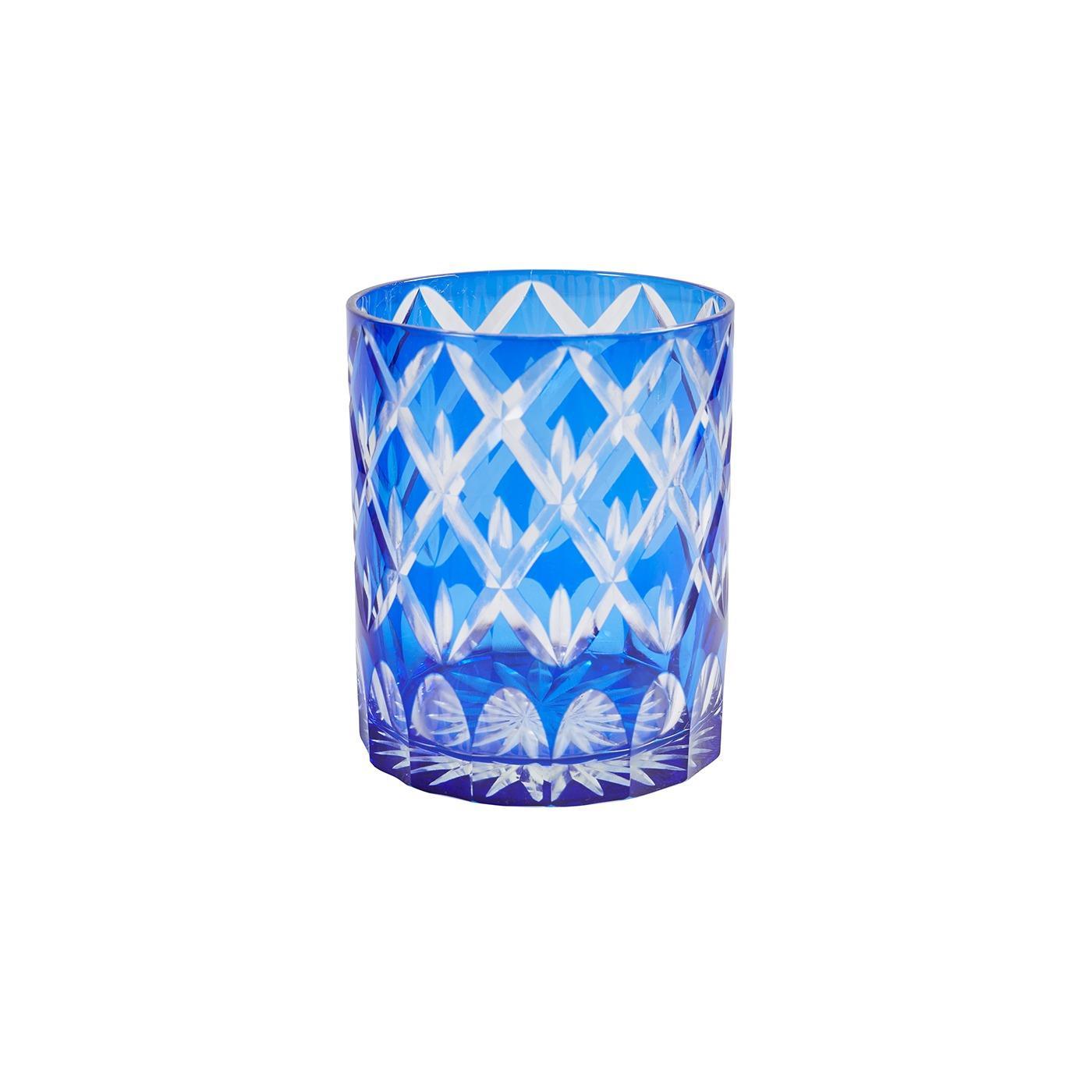 Sapphire Rocks Glass