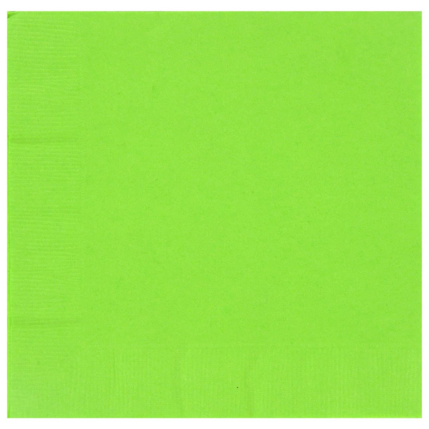 Paper Cocktail Napkins-Box of 100 - Lime