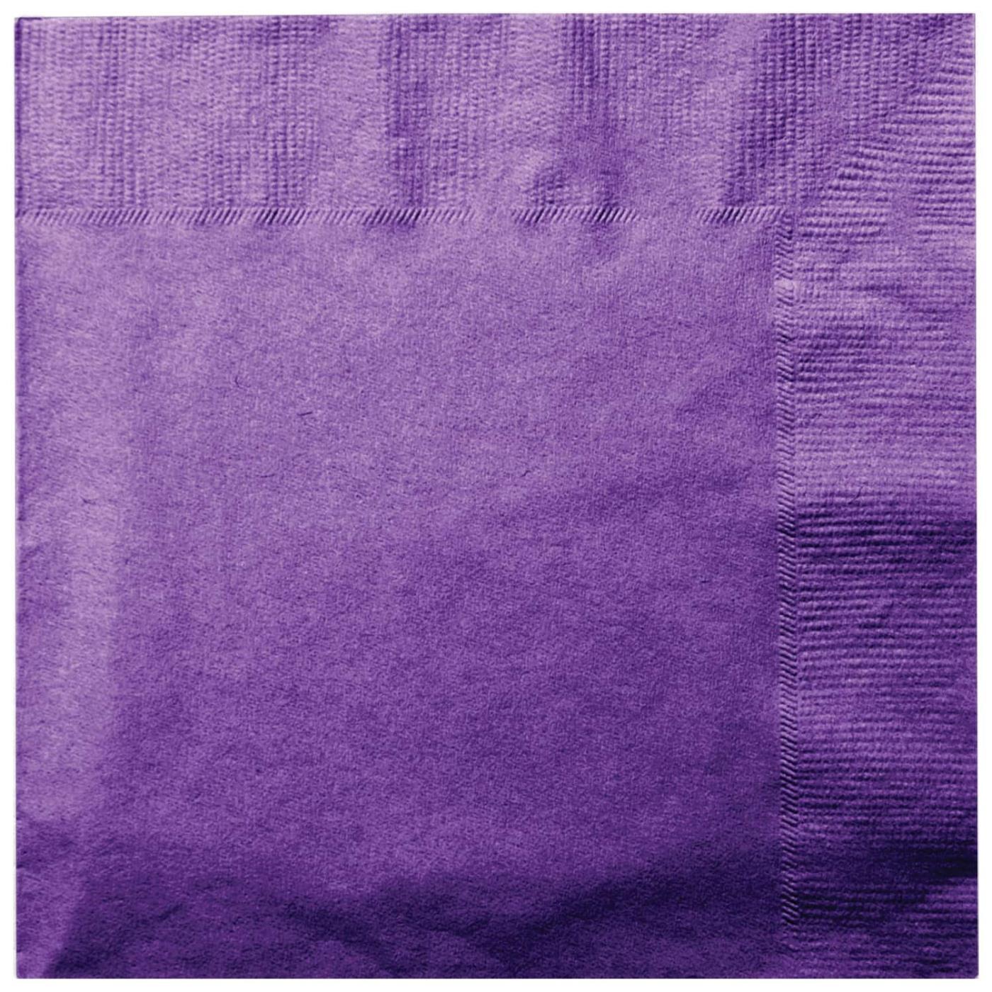 Paper Cocktail Napkins-Box of 100 - Purple