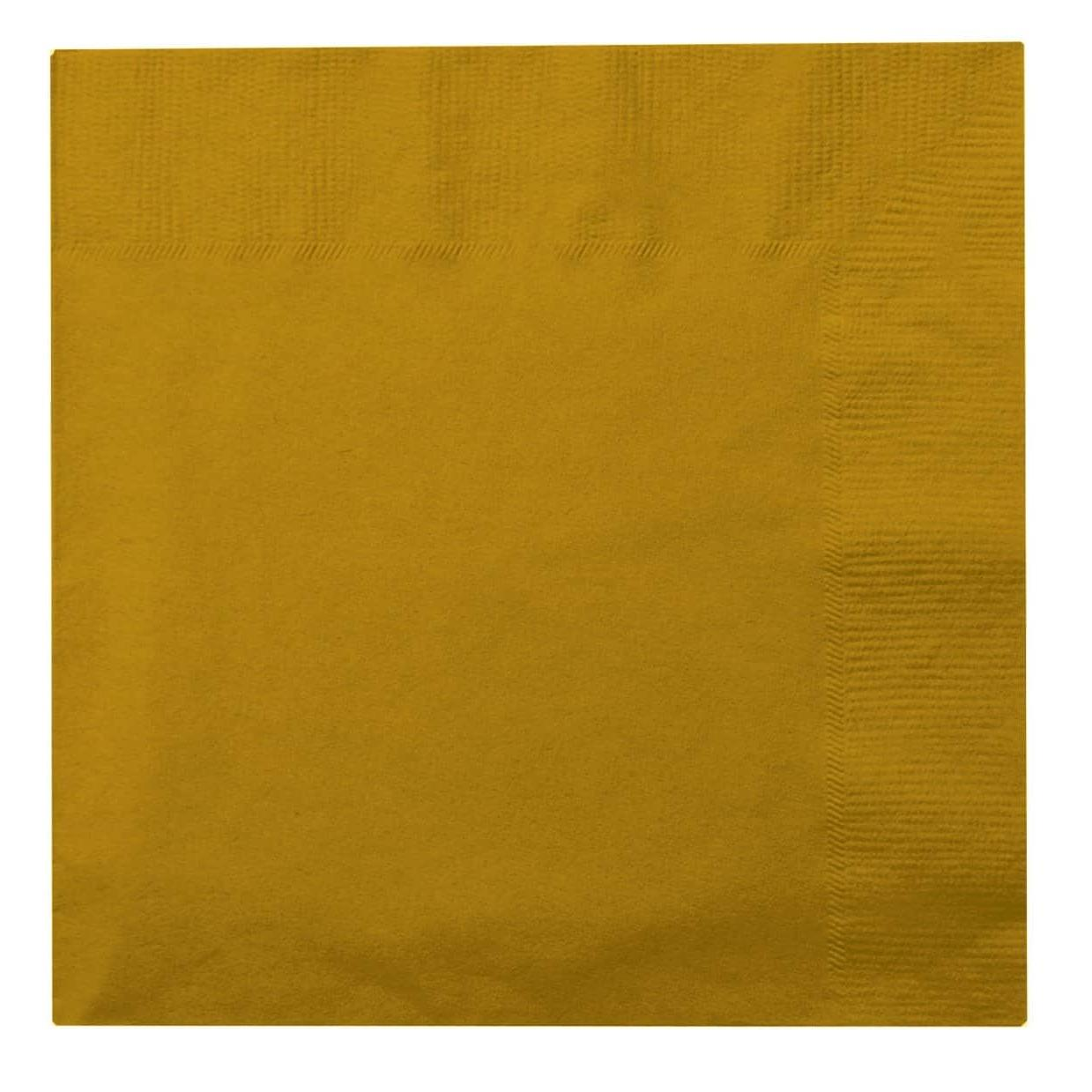 Paper Cocktail Napkins-Box of 100 - Gold