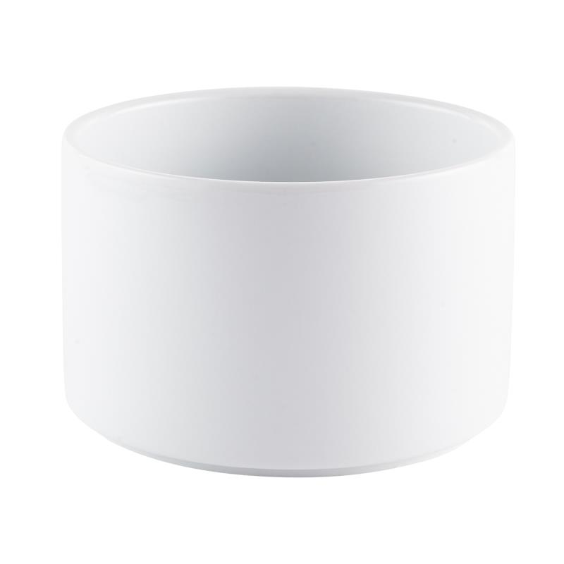 White Ceramic Straight Sided Bowl - 6""