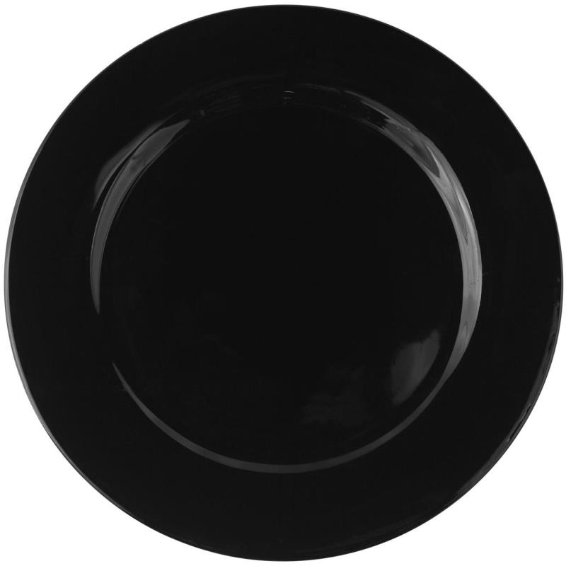 Black Rim Collection -  Chop Plate 12""