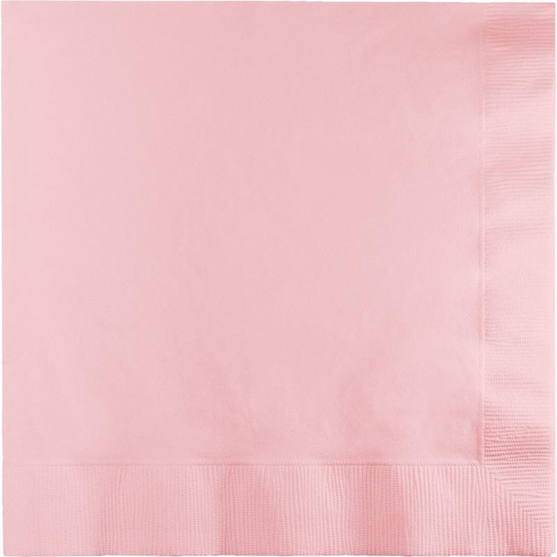 Paper Cocktail Napkins-Box of 100 - Light Pink