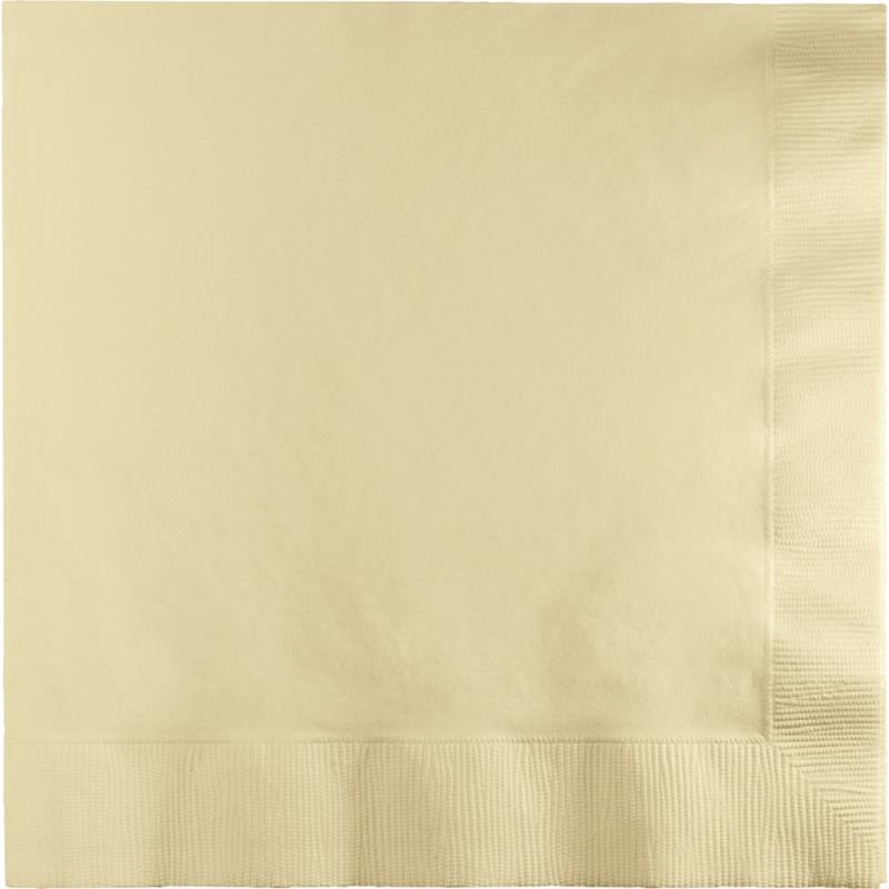 Paper Cocktail Napkins-Box of 100 - Ivory