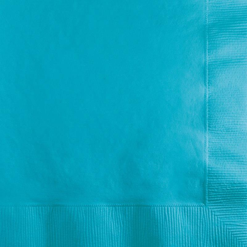 Paper Cocktail Napkins-Box of 100 - Turquoise