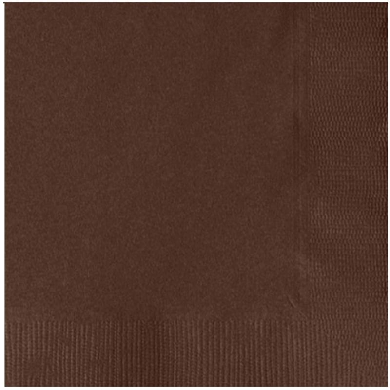 Paper Cocktail Napkins-Box of 100 - Brown