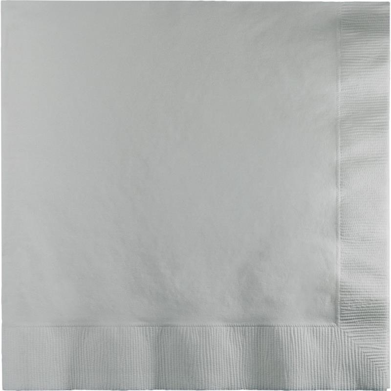 Paper Cocktail Napkins-Box of 100 - Silver