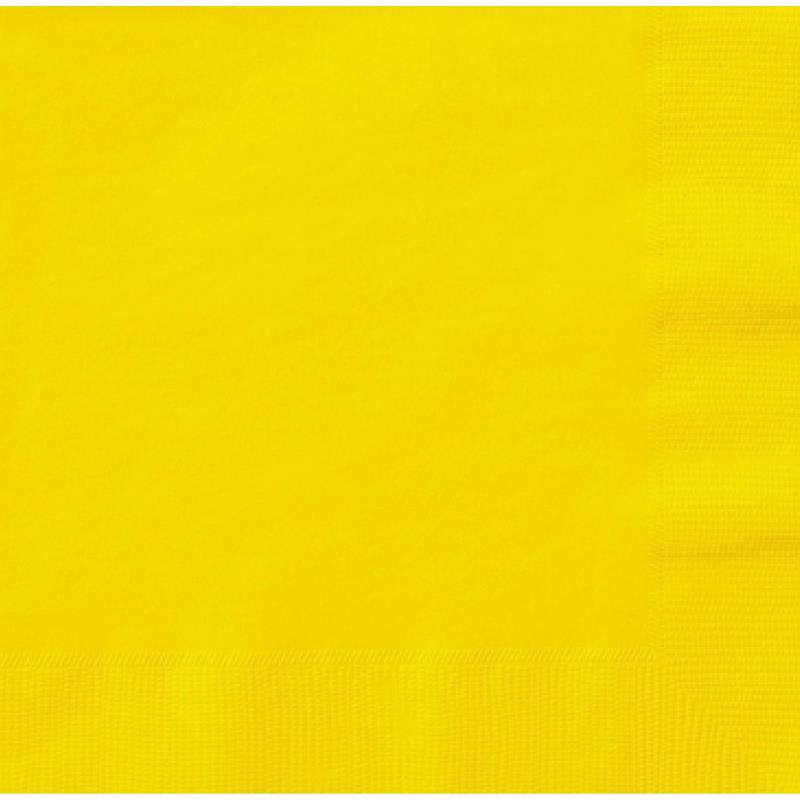 Paper Cocktail Napkins-Box of 100 - Yellow