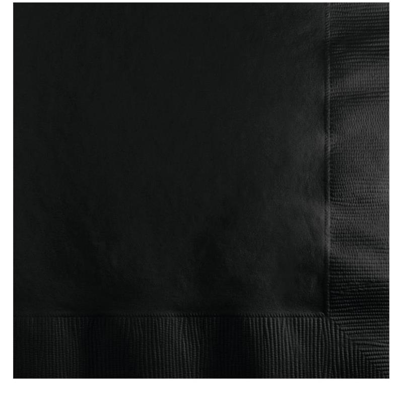 Paper Cocktail Napkins-Box of 100 - Black