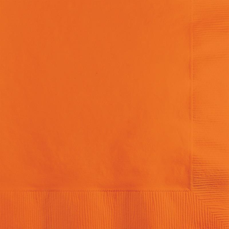 Paper Cocktail Napkins-Box of 100 - Orange