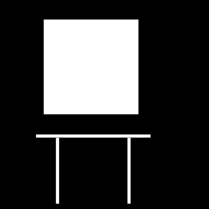 "Square Table - 24""W x 24"" L  x 42""H"